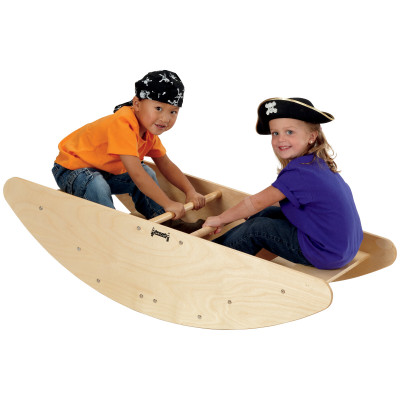 Jonti-Craft Wood Rocking Boat / Stairs